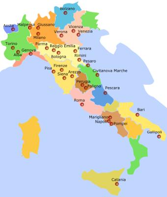 Cartina Italia Bambini.Librerie Per Bambini E Ragazzi In Italia Teste Fiorite